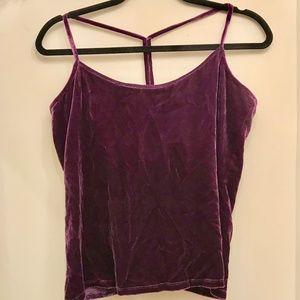 Eileen Fisher Purple Velvet T strap top